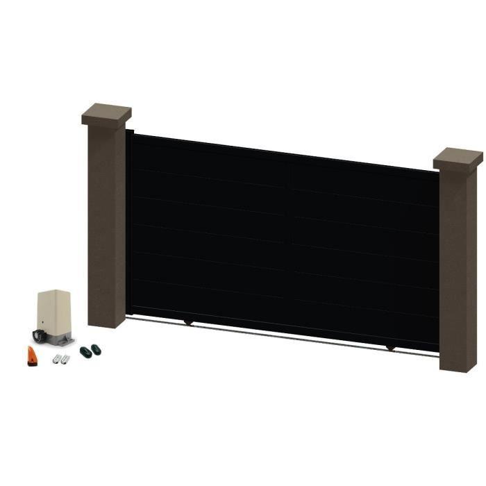 portail coulissant en aluminium kali noir 3 5m motoris autour du portail achat vente. Black Bedroom Furniture Sets. Home Design Ideas