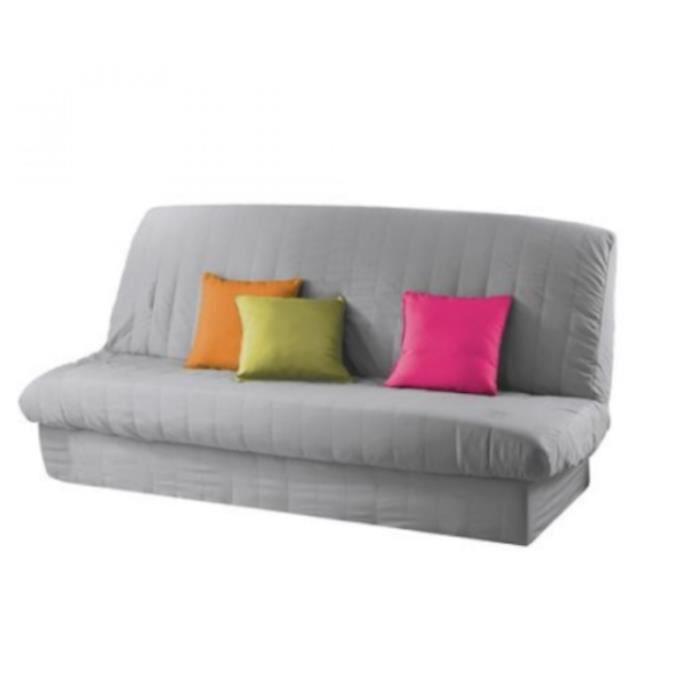 housse de clic clac gris matelass e top qualit achat vente housse de canape soldes. Black Bedroom Furniture Sets. Home Design Ideas