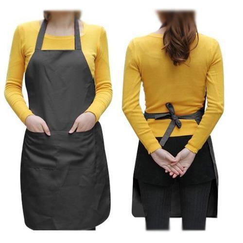 tablier de cuisine noir homme femme avec 2 poches. Black Bedroom Furniture Sets. Home Design Ideas
