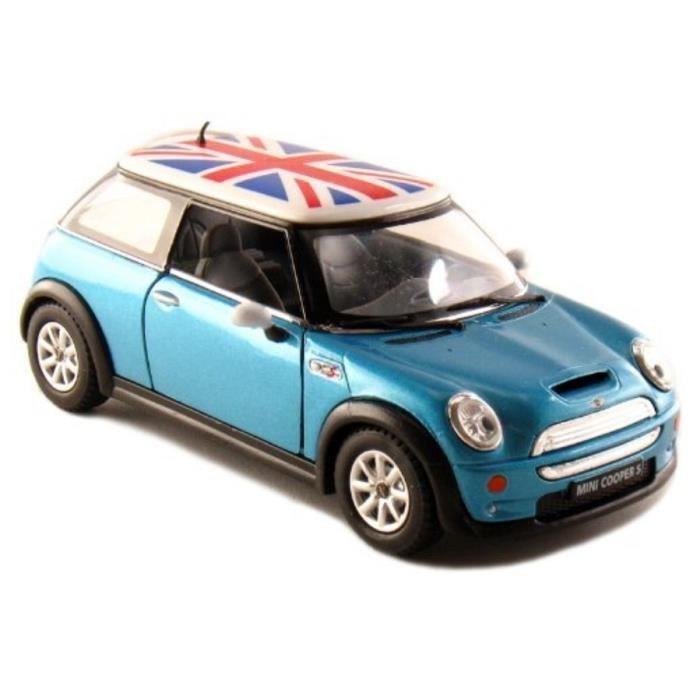 voiture mini cooper s bleu 1 28 m tal friction 1534. Black Bedroom Furniture Sets. Home Design Ideas