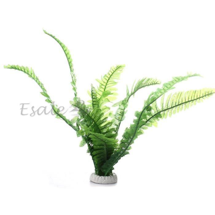 plante artificielle herbe aquatique plastique vert d cor d co aquarium poissons achat vente. Black Bedroom Furniture Sets. Home Design Ideas