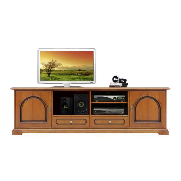 Banc tv 2 m tres style classique achat vente meuble tv for Meuble tv 3 metres