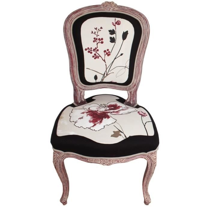 chaise tapissier style louis xv cr ation fran aise achat vente chaise cdiscount. Black Bedroom Furniture Sets. Home Design Ideas