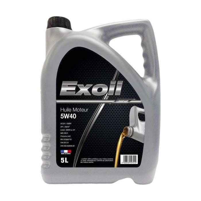 exoil huile auto 5w40 5l achat vente huile moteur bidon huile 5w40 5 litres cdiscount. Black Bedroom Furniture Sets. Home Design Ideas