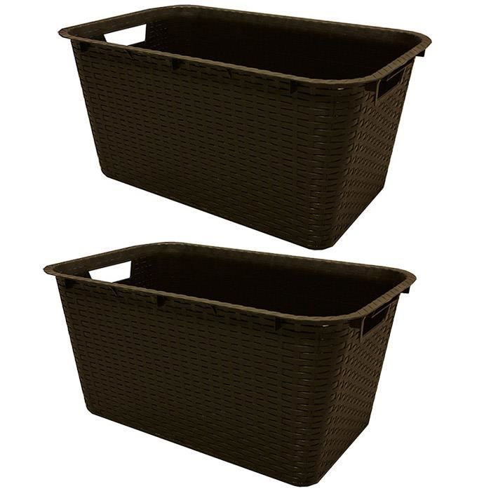 panier a linge en rotin achat vente panier a linge en rotin pas cher cdiscount. Black Bedroom Furniture Sets. Home Design Ideas