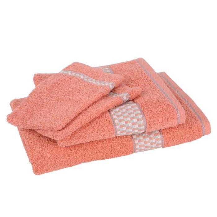 lot de 1 drap de bain 1 serviette 2 gants bauhaus. Black Bedroom Furniture Sets. Home Design Ideas