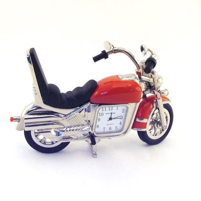 Pendule design moto noir rouge achat vente horloge pendule de - Pendule rouge design ...