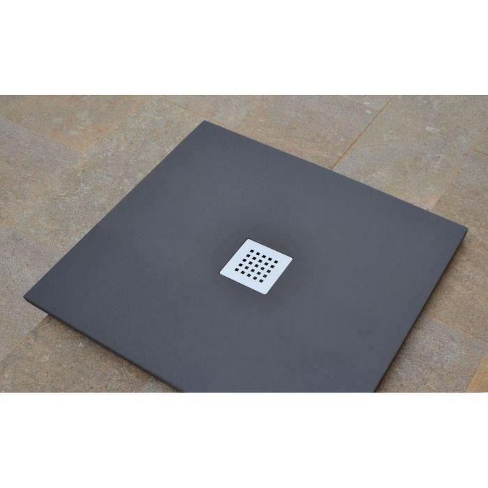mitola receveur en r sine composite liwa 80x80 anthracite. Black Bedroom Furniture Sets. Home Design Ideas