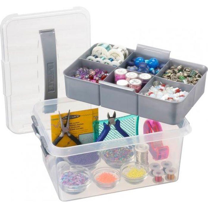 Boite de rangement multifonctions - Avec compar… - Achat / Vente boite de rangement Plastique ...