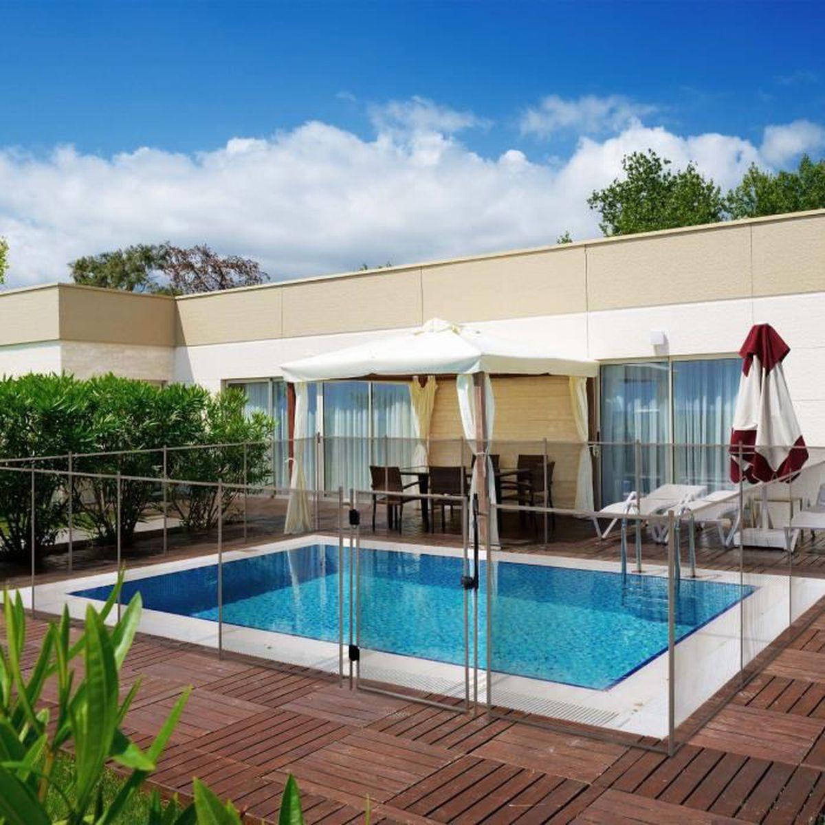 Cl ture de s curit pour piscine 3 m tres couleur sable for Piscine demontable