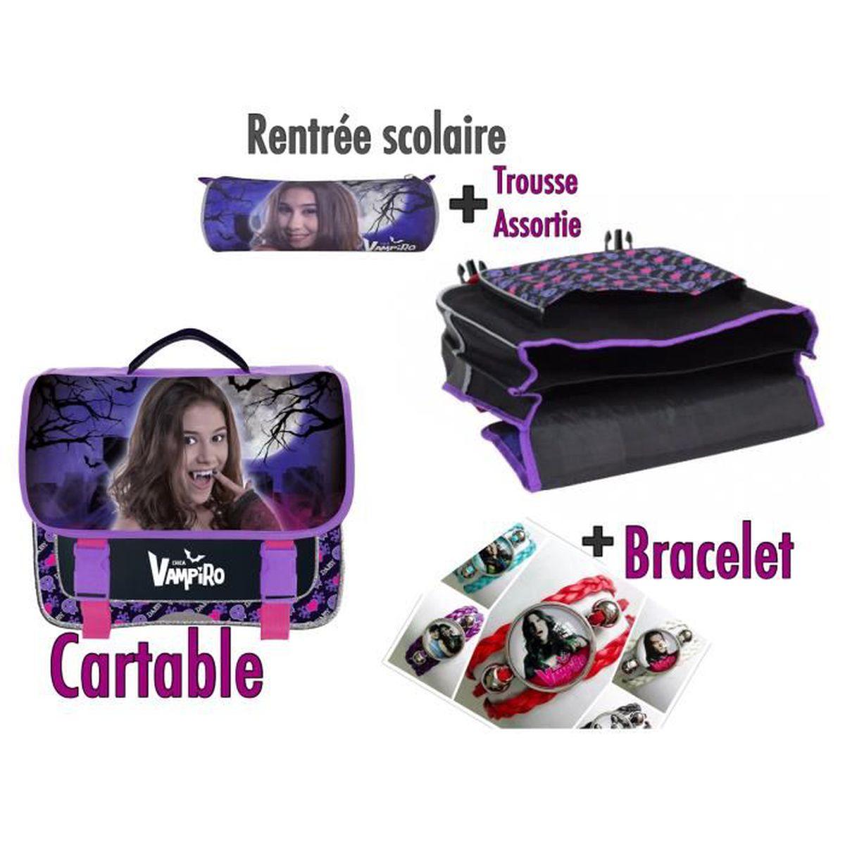 rentr e scolaire cartable et trousse d 39 cole daisy chica vampiro achat vente cartable. Black Bedroom Furniture Sets. Home Design Ideas