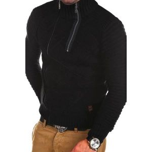 PULL Pull gilet Homme col montant