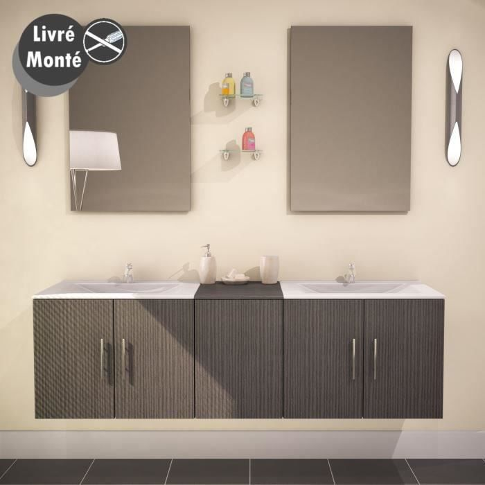 Ensemble salle de bain double vasque wengu pictures to for Ensemble salle de bain double vasque
