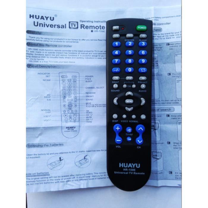 Huayu universal t l commande du t l viseur hr 159e stylet int ractif avis et prix pas cher - Telecommande climatiseur universel ...