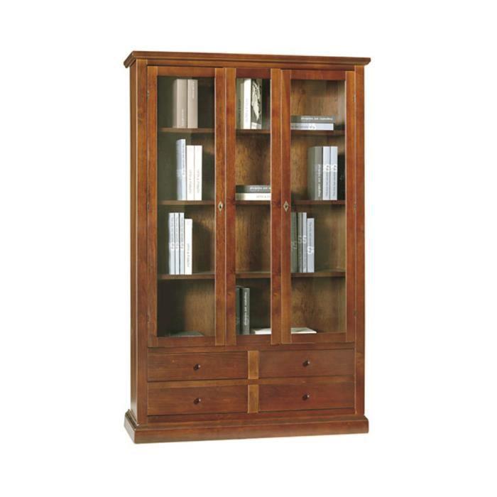 Vitrine style classique en bois massif et mdf avec - Model vitrine en bois ...