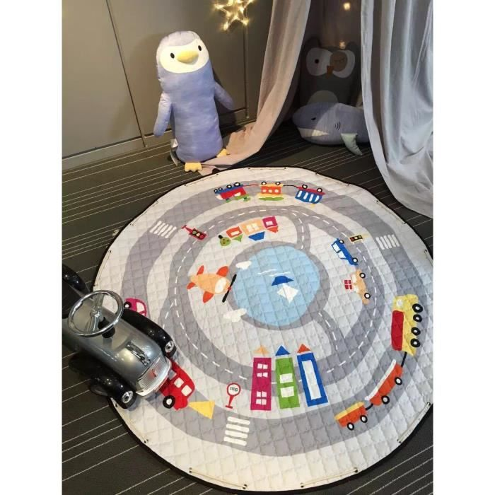 jolie voiture 100 coton enfants jeu jouet playmat tapis tapis portatif rampant sac d. Black Bedroom Furniture Sets. Home Design Ideas
