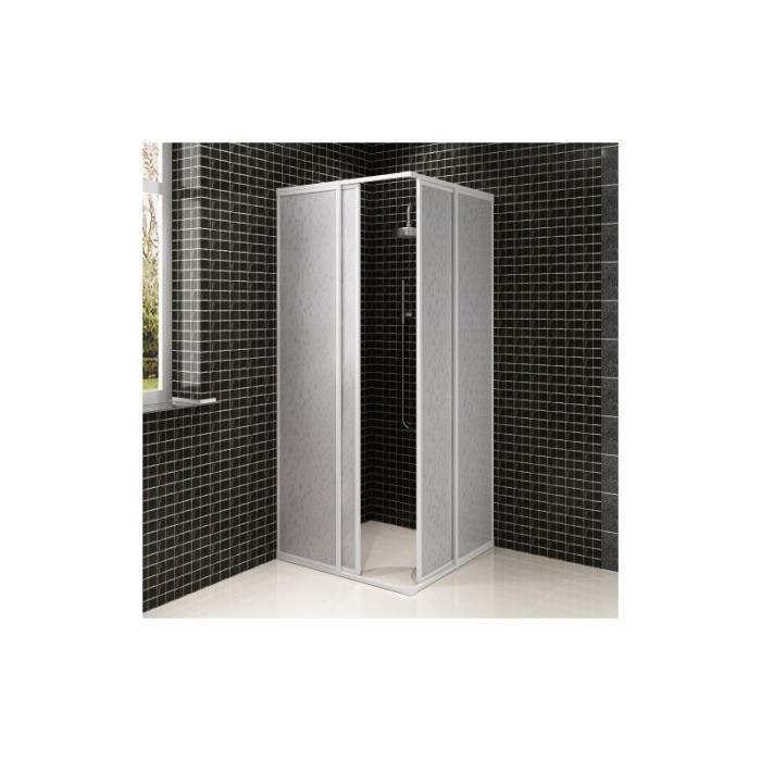 Cabine de douche angle avec cadre rectangulaire en aluminium 80 x 90 cm ach - Cabine de douche en aluminium ...