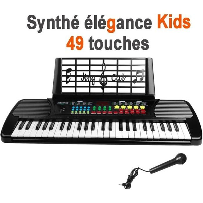 clavier piano synthetiseur electrique 49 touches achat. Black Bedroom Furniture Sets. Home Design Ideas