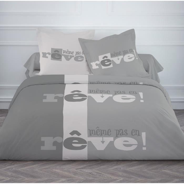 today parure de couette m me pas en r ve 100 coton 1 housse de couette 220x240 cm 2 taies d. Black Bedroom Furniture Sets. Home Design Ideas