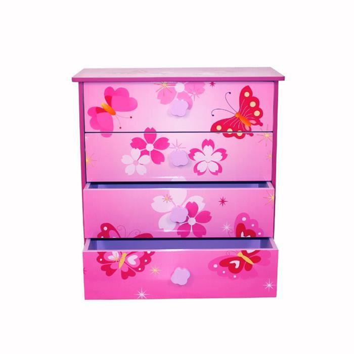 commode enfants de 4 tiroirs en bois avec motif achat vente commode de chambre commode. Black Bedroom Furniture Sets. Home Design Ideas