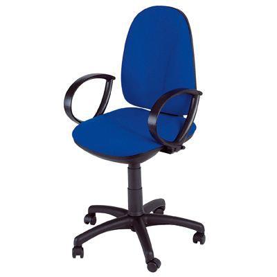 Chaise dactylo webstar bleu achat vente chaise de - Chaise de bureau bleu ...