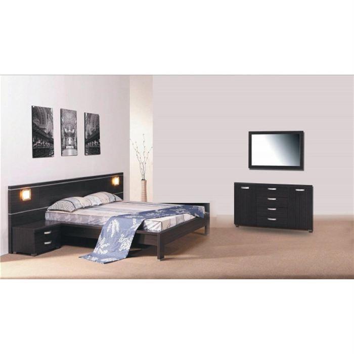 Chambre complete design dubai bois wengue achat vente for Chambre complete design