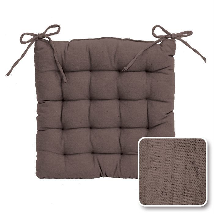Assise unity taupe achat vente coussin de chaise for Housse assise de chaise