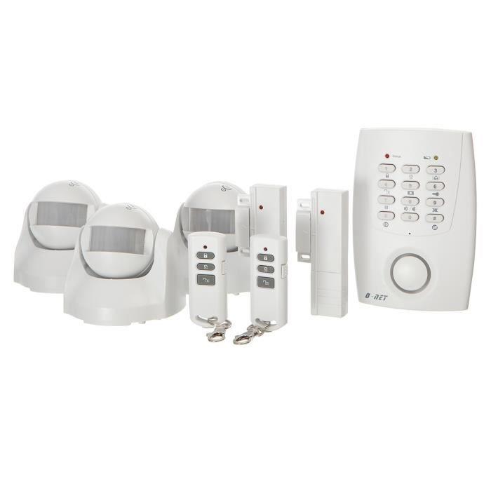Alarme sans fil transmetteur telephonique for Alarme maison internet