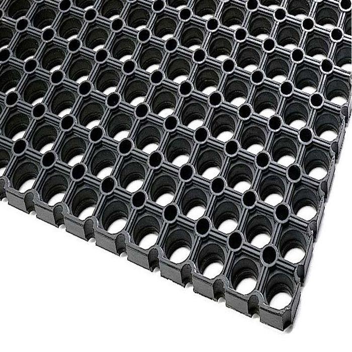 Tapis Caillebotis En Caoutchouc 80x120 Cm Noir Achat