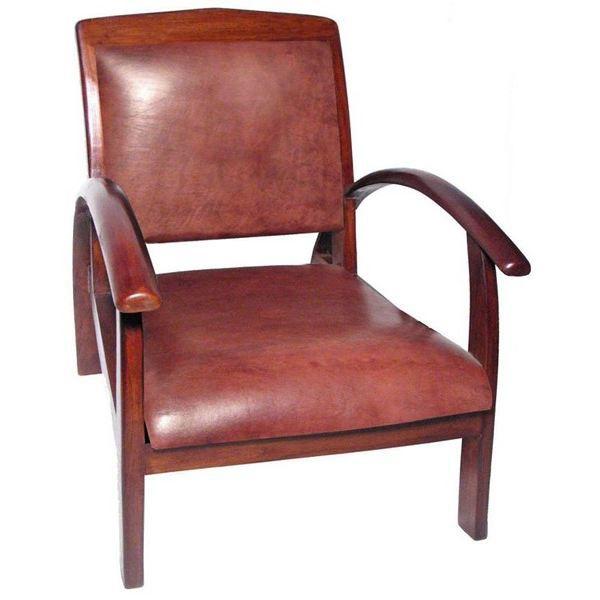 fauteuil design colonial titanic teck cuir achat vente fauteuil mati re du rev tement. Black Bedroom Furniture Sets. Home Design Ideas
