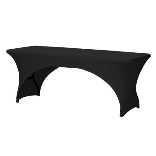 Housse pour table pliante 184cm noir achat vente - Housse de table de jardin rectangulaire ...
