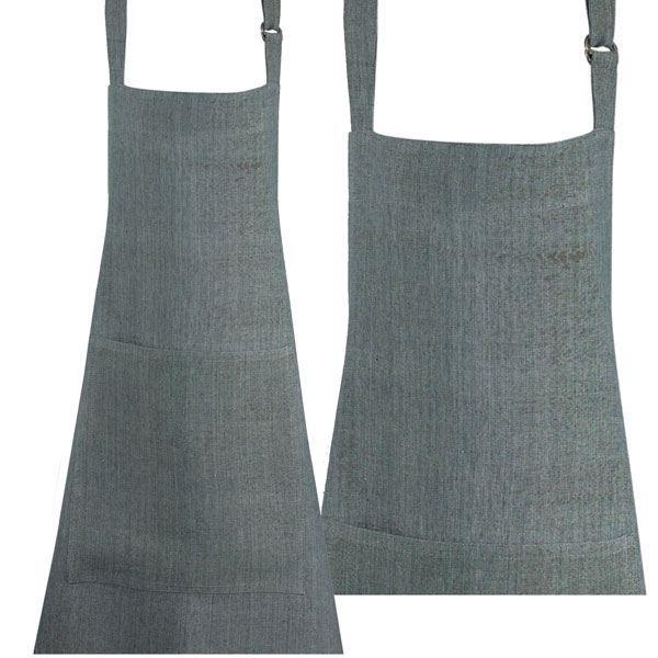 Tablier gris lin achat vente tablier de cuisine for Achat tablier cuisine