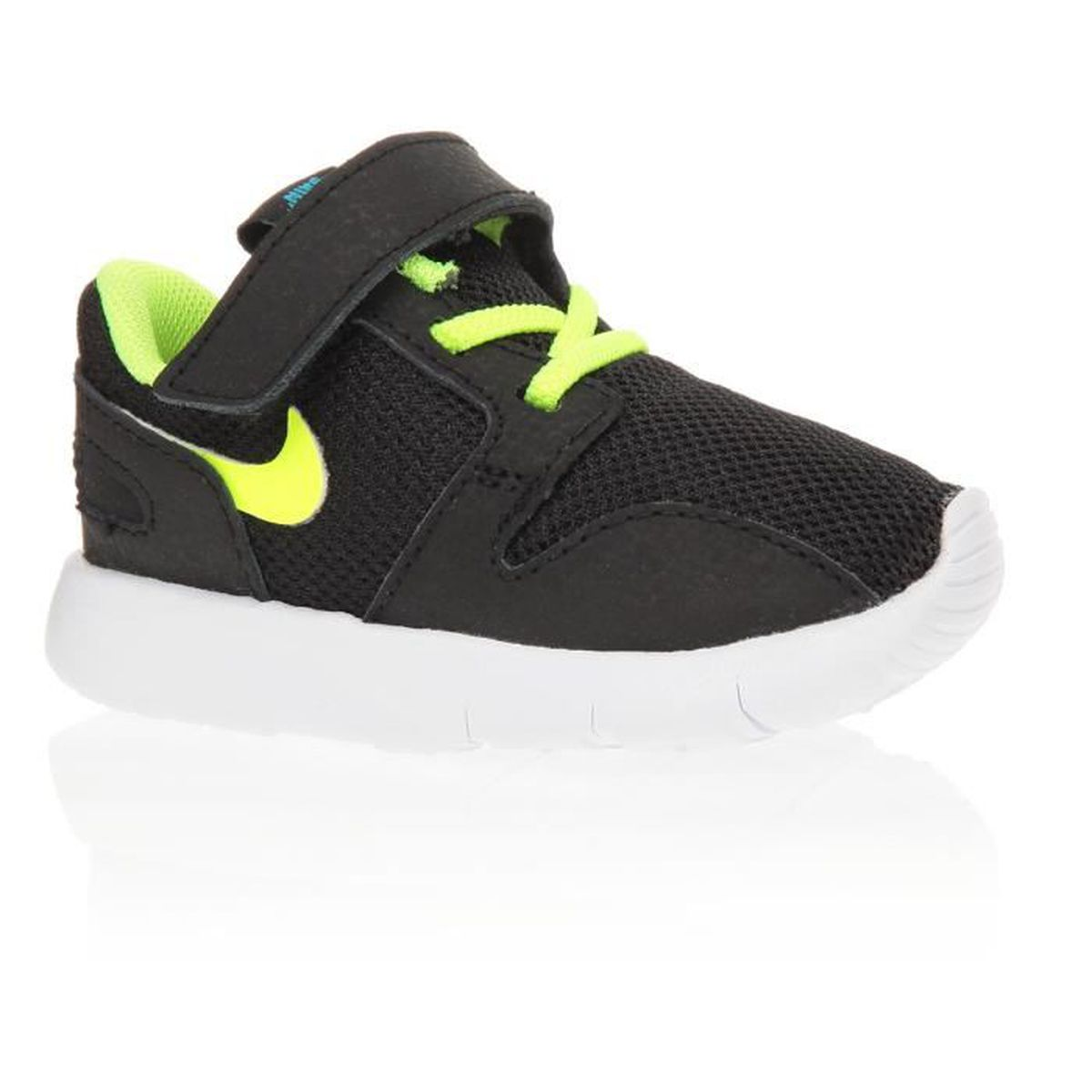 nike baskets kaishi td chaussures b b gar on noir et vert achat vente basket soldes. Black Bedroom Furniture Sets. Home Design Ideas
