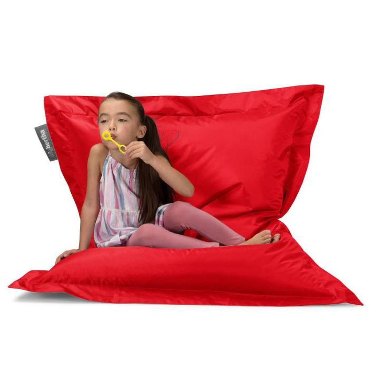 pouf g ant rouge achat vente pouf poire cdiscount. Black Bedroom Furniture Sets. Home Design Ideas