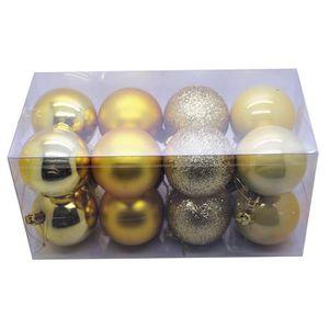 Boule de noel dore achat vente boule de noel dore pas - Boule en plastique pas cher ...
