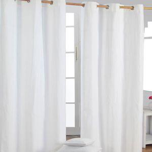 rideaux blanc cass my blog. Black Bedroom Furniture Sets. Home Design Ideas