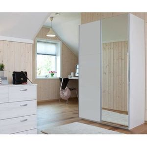 cordoba armoire de chambre 120 cm blanc achat vente. Black Bedroom Furniture Sets. Home Design Ideas