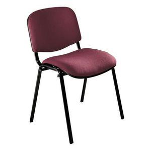 CHAISE DE BUREAU Chaise conférence empilable violette piètement …
