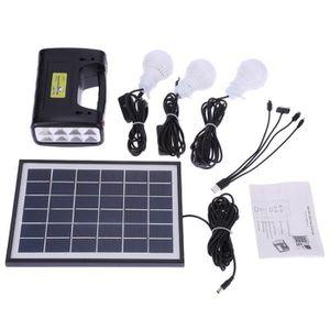 lampe 5w panneau solaire syst me d 39 clairage led kit chargeur accueil camping utilisation usb dc. Black Bedroom Furniture Sets. Home Design Ideas