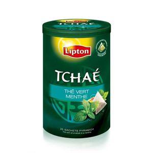 THÉ LIPTON Tchae Thé vert Menthe 25 Sachets