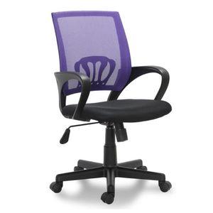 CHAISE Siège de bureau violet ergonomique avec accoudoirs