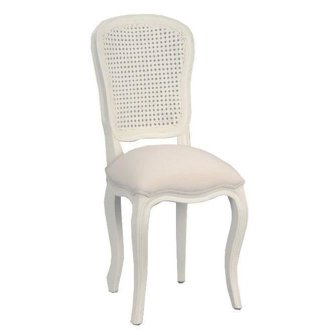 Chaise dossier rotin achat vente chaise blanc soldes for Soldes chaises rotin