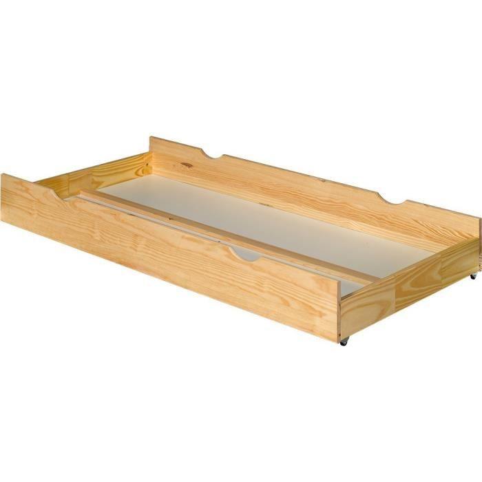 Tiroir de rangement lit superpos naturel achat vente tiroir de lit tiroir - Lit avec rangement tiroir ...