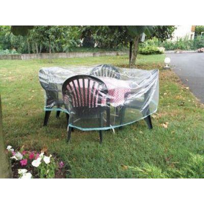 Housse De Jardin Plastique Pour Table Ronde Et Cha Achat Vente Housse Meuble Jardin Housse