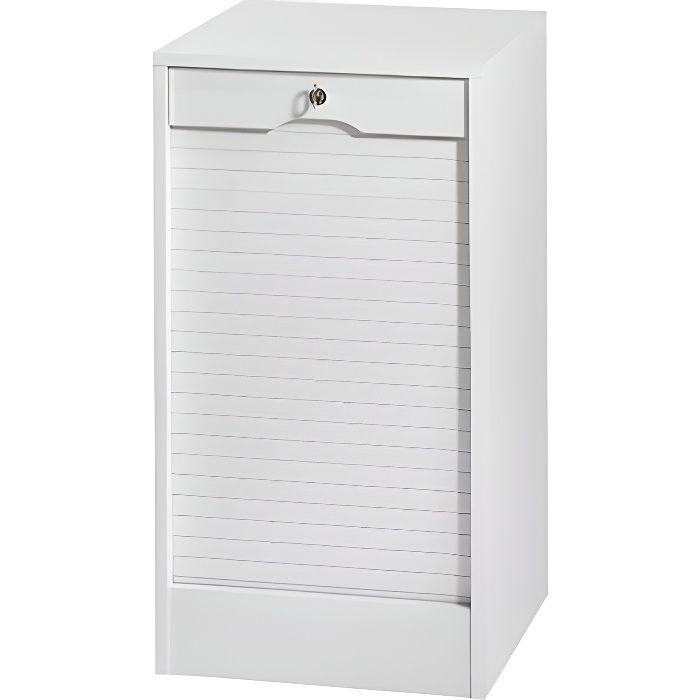 classeur simple hauteur 80 cm rido blanc achat vente