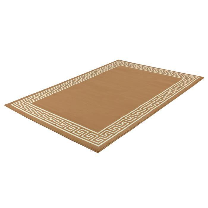 tapis design milano marron clair 160 x 225 cm achat vente tapis cdiscount. Black Bedroom Furniture Sets. Home Design Ideas