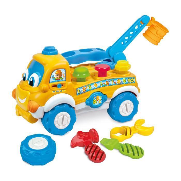 Clementoni baby carter le camion bricoleur achat vente for Baby bureau bilingue 2 en 1