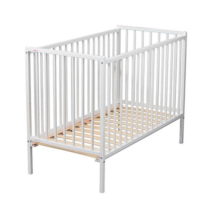 combelle lit remi 60x120 laque blanc blanc achat vente lit b b 3103946010007 cdiscount. Black Bedroom Furniture Sets. Home Design Ideas