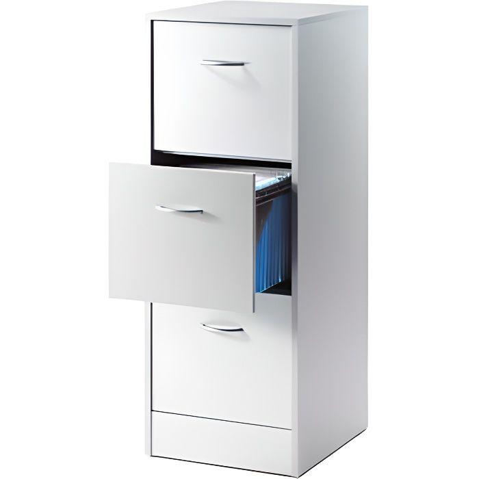 Classeur 3 tiroirs pour dossiers suspendus 41 4 cm Meuble 2 tiroirs pour dossiers suspendus