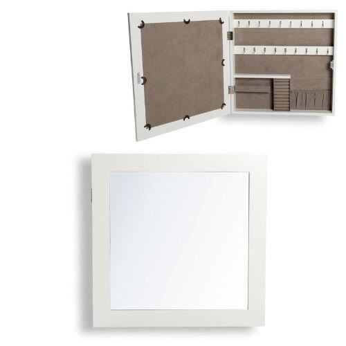 Miroir bois blanc laque for Grand miroir mural blanc laque